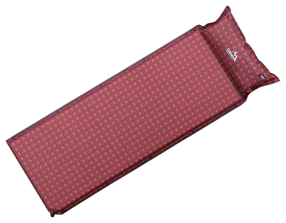 Karimatka samonafukovacia s vankúšom - červená