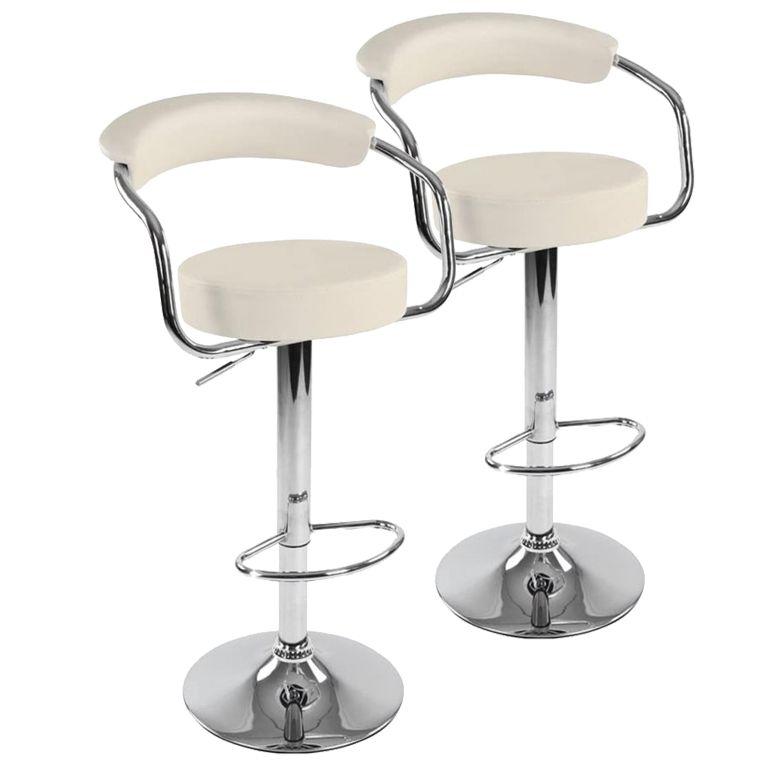 Sada barových stoličiek 2 ks, béžová, 53 x 105 x 52 cm