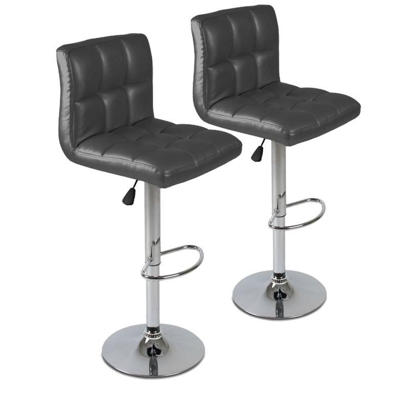 Sada barových stoličiek, sivá, 2 ks