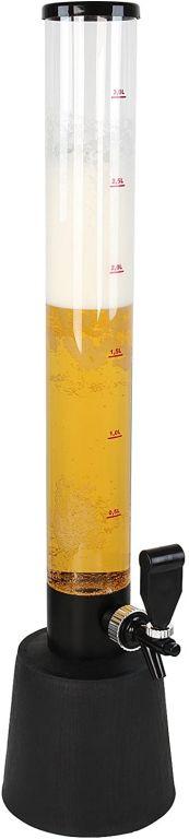 Pivná veža plastová, čierna, 3 500 ml