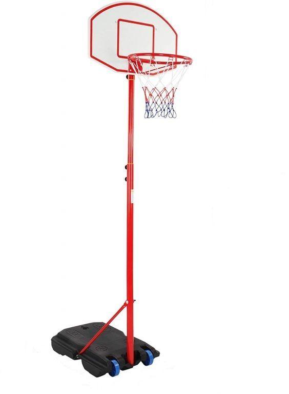 Basketbalový kôš s kolieskami, nastaviteľný 113 - 236 cm
