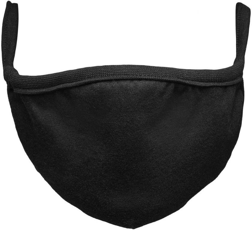 Bavlnené rúško dvojvrstvové - čierne, 10 ks
