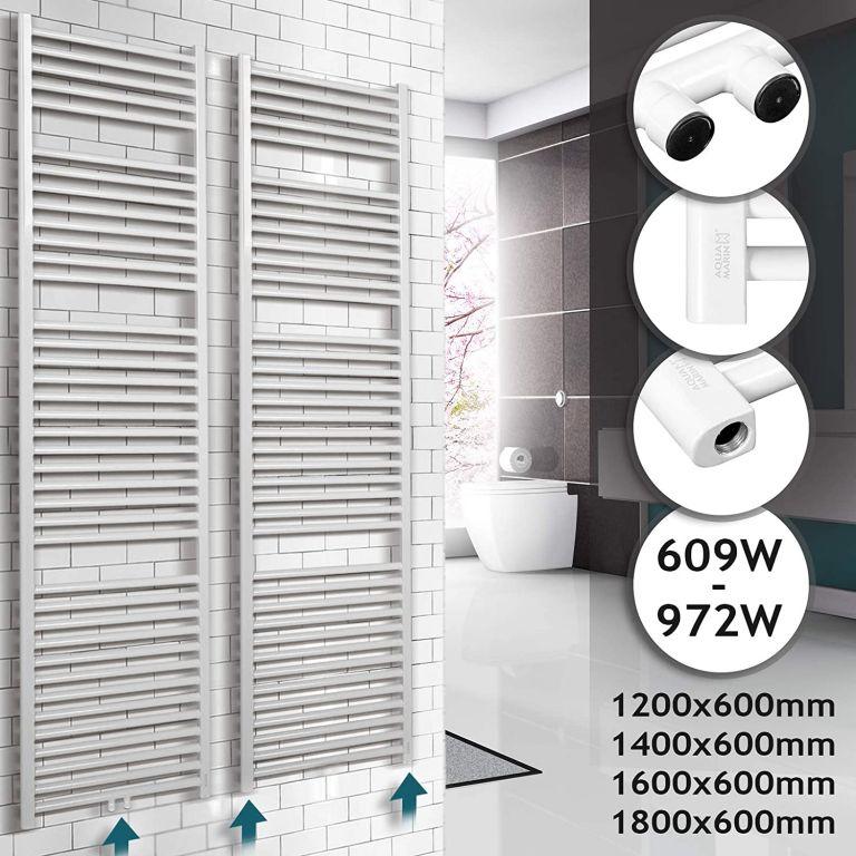 Kúpeľňový radiátor 1600 x 600 mm, biely