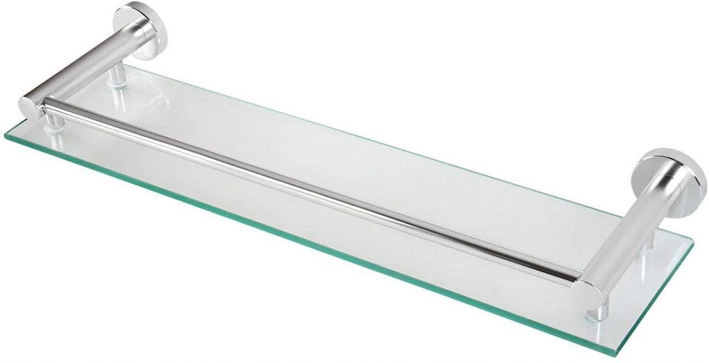 Sklenená polica do kúpeľne, 50 x 3 x 14 cm