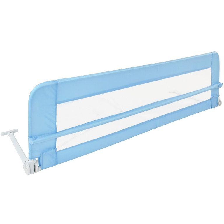 Detská zábrana na posteľ, 150 cm, modrá