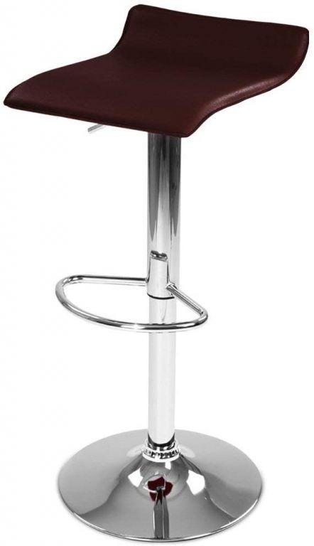Barová stolička z umelej kože, hnedá