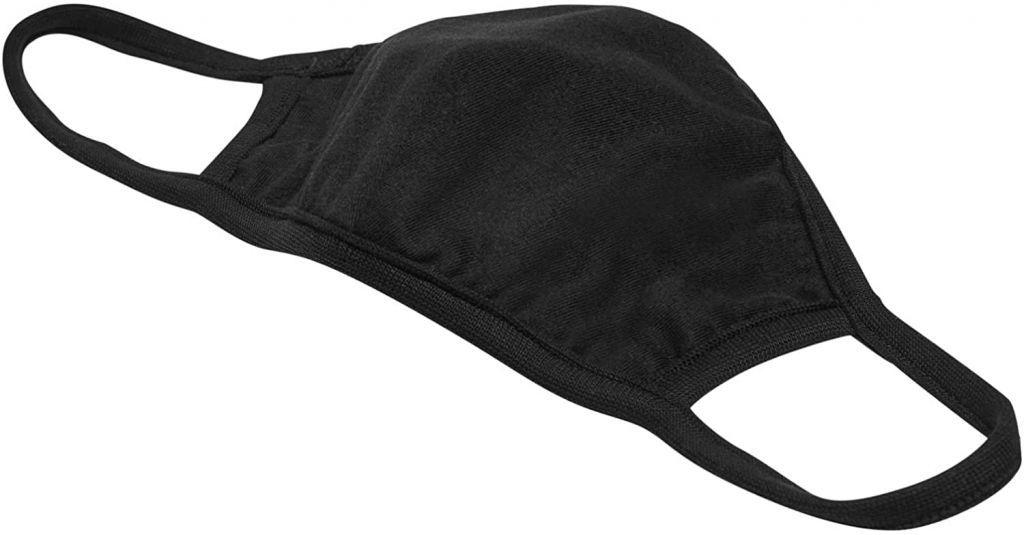 Bavlnené rúško dvojvrstvové - čierne, 2 ks