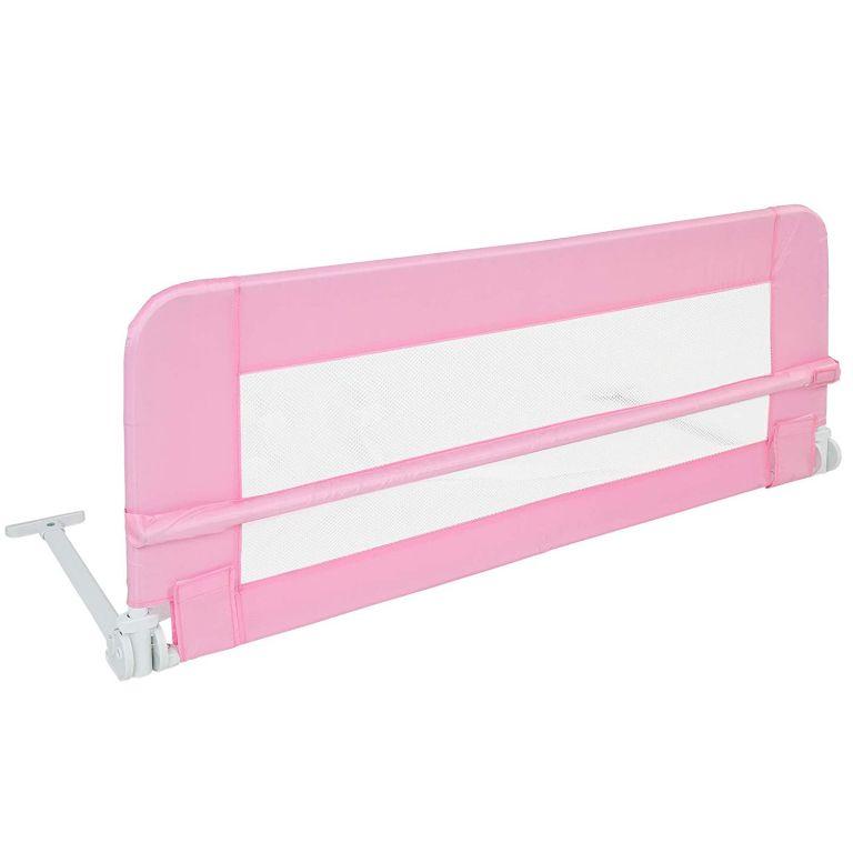 Detská zábrana na posteľ, 102 cm, ružová