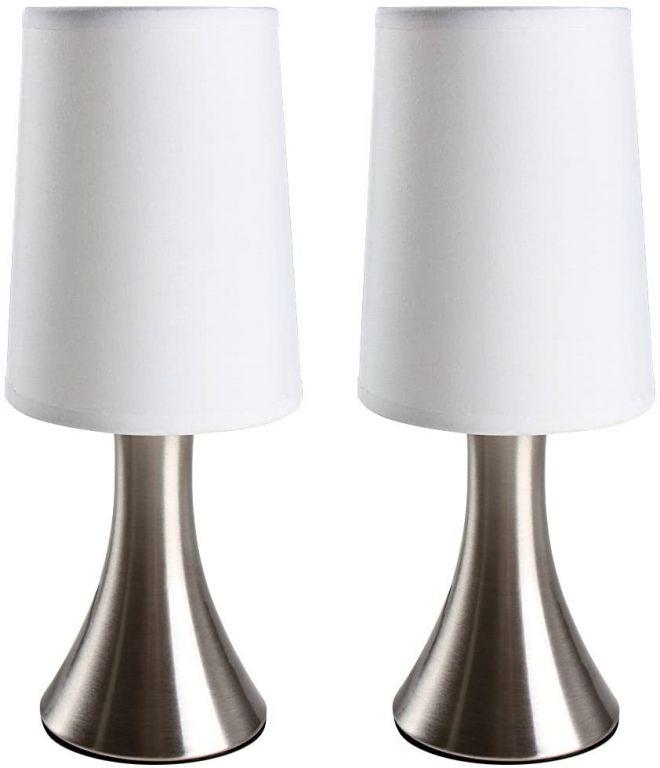 Sada 2 kusov stolných lámp s dotykovou funkciou stmievania