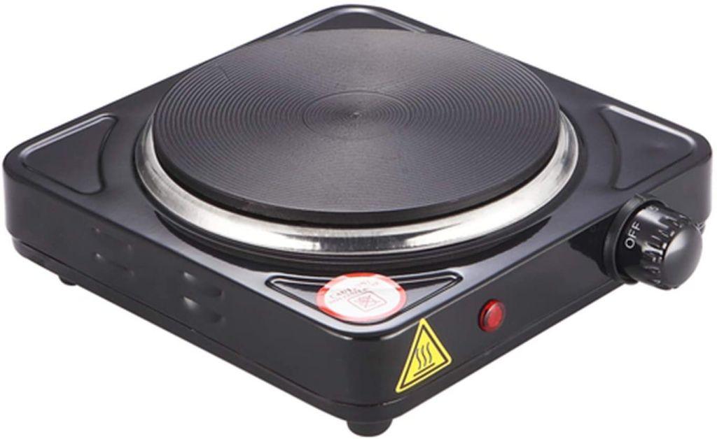 Elektrická varná platnička s jedným horákom, čierna