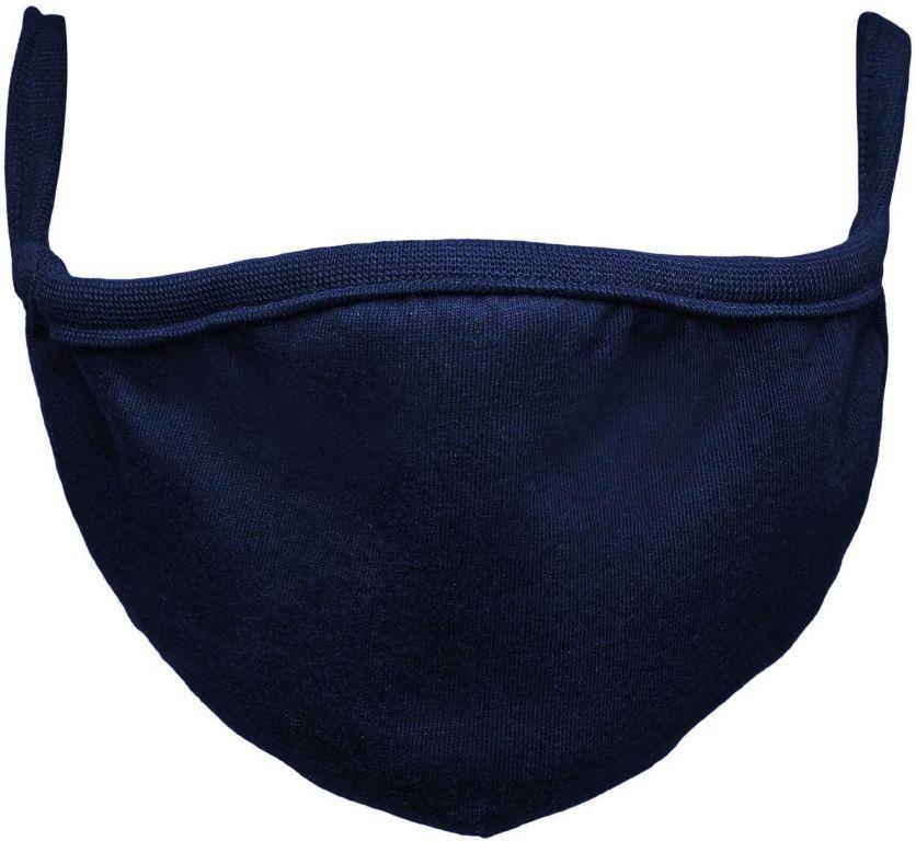 Bavlnené rúško dvojvrstvové - modré, 2 ks
