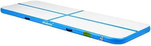 Nafukovacia gymnastická žinienka, 300 x 100 x 10 cm, modrá