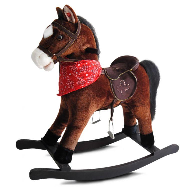 Hojdací kôň Andalusian so zvukovými efektmi, 74 x 30 x 64 cm