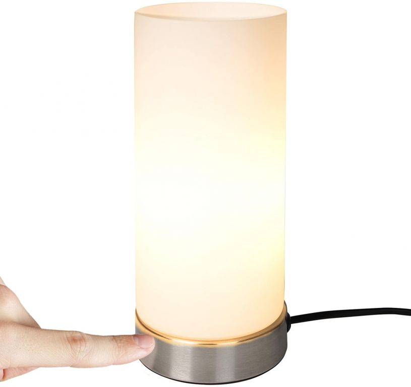 Stolná lampa s dotykovou funkciou stmievania, 10 x 25 cm