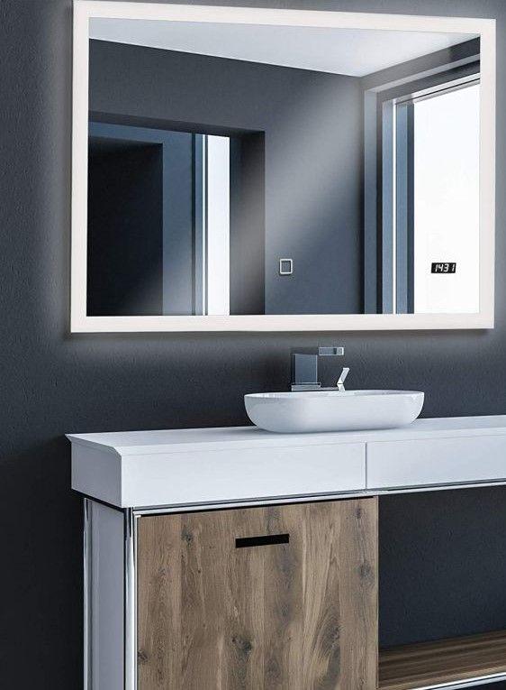 Aquamarin Kúpeľňové zrkadlo s LED osvetlením, 100 x 80 cm