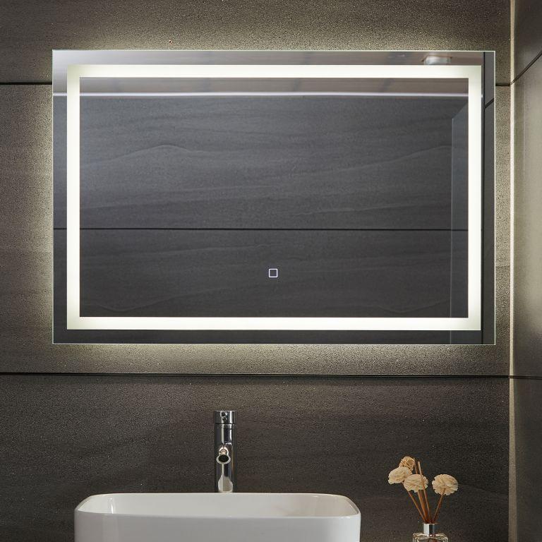 AQUAMARIN kúpeľňové zrkadlo s LED osvetlením, 90 x 60 cm