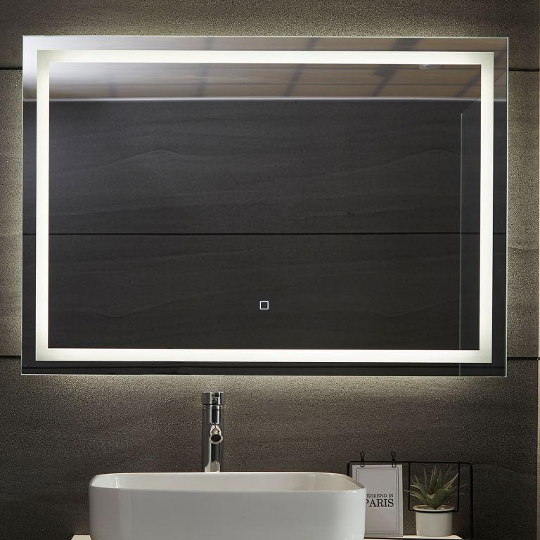 AQUAMARIN kúpeľňové zrkadlo s LED osvetlením, 100 x 70 cm