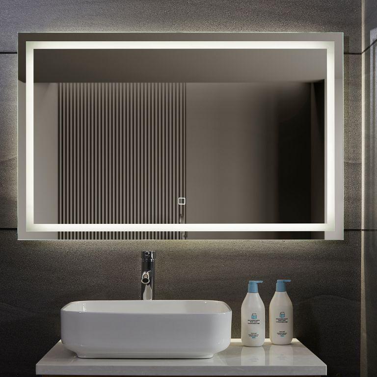 AQUAMARIN kúpeľňové zrkadlo s LED osvetlením, 110 x 70 cm