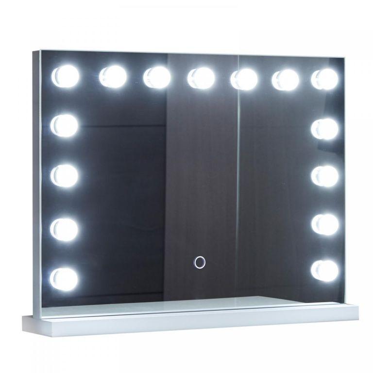 Aquamarin Kúpeľňové LED zrkadlo Holywood 58 x 43 cm