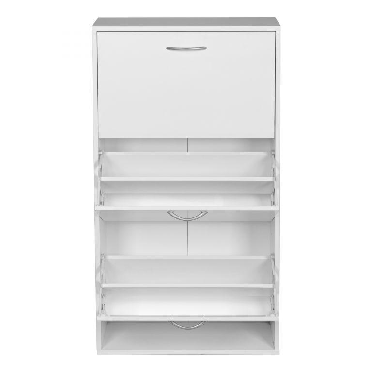 Miadomodo Výklopný botník biely - 59 x 105 x 22 cm