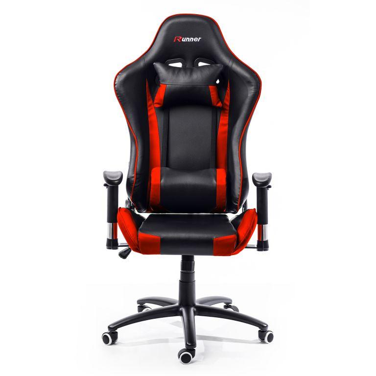 Kancelárska stolička - kreslo KANSAS - červená