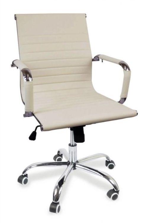 Kancelárska stolička Idaho - krémová