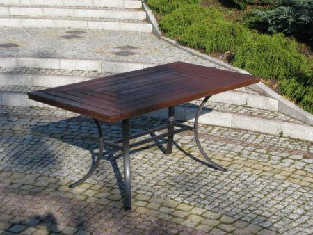 Záhradný stôl WELLINGTON čierny FSC