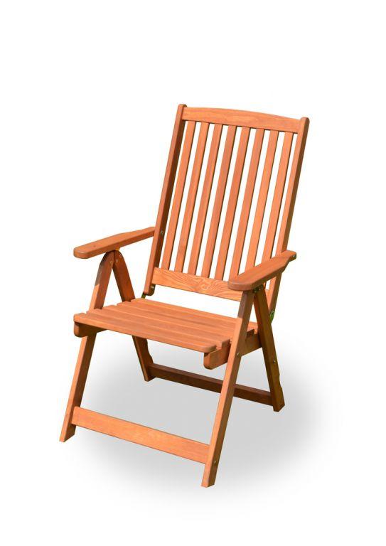 Záhradné drevené kreslo HOLIDAY morené FSC