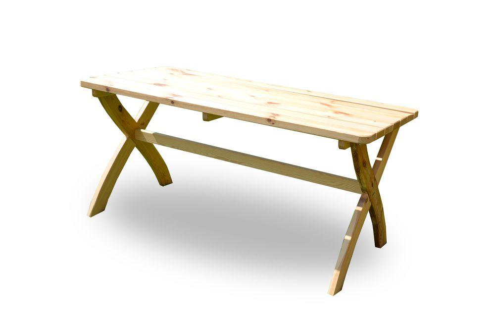 Záhradný drevený stôl STRONG prírodný FSC