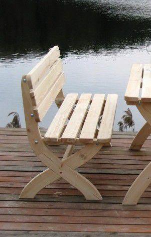 Záhradná drevenná lavica STRONG prírodná FSC 150 cm