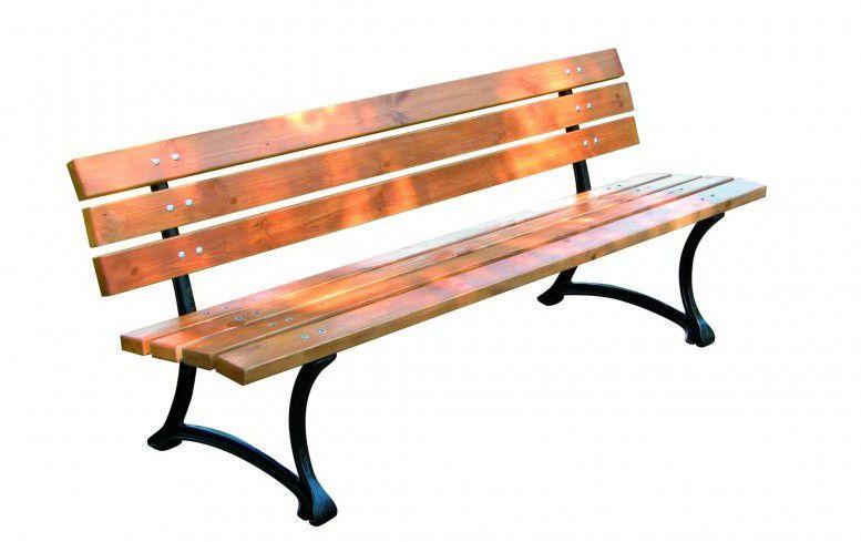 Drevená záhradná parková lavica FSC