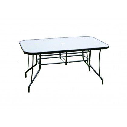 Exteriérový stôl ZWT 140 so sklenenou doskou