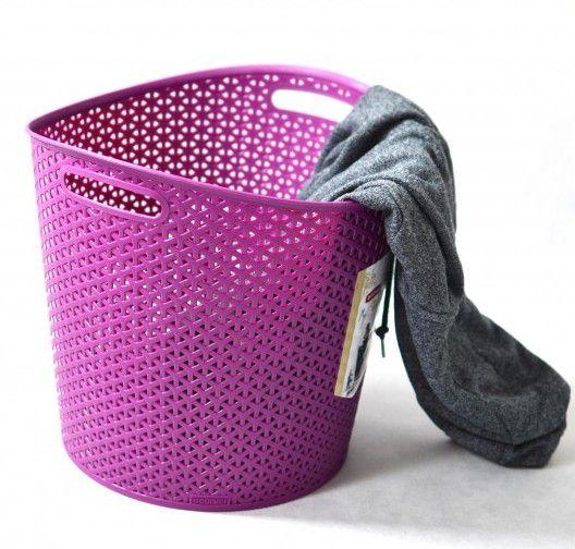 Kôš na prádlo MY STYLE RATTAN 30l lila CURVER