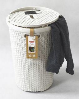 Okrúhly kôš na prádlo 48L krémové CURVER