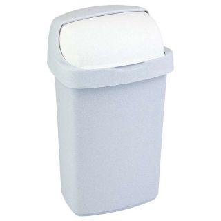 Koš na odpadky ROLL TOP 10l - sv. šedý