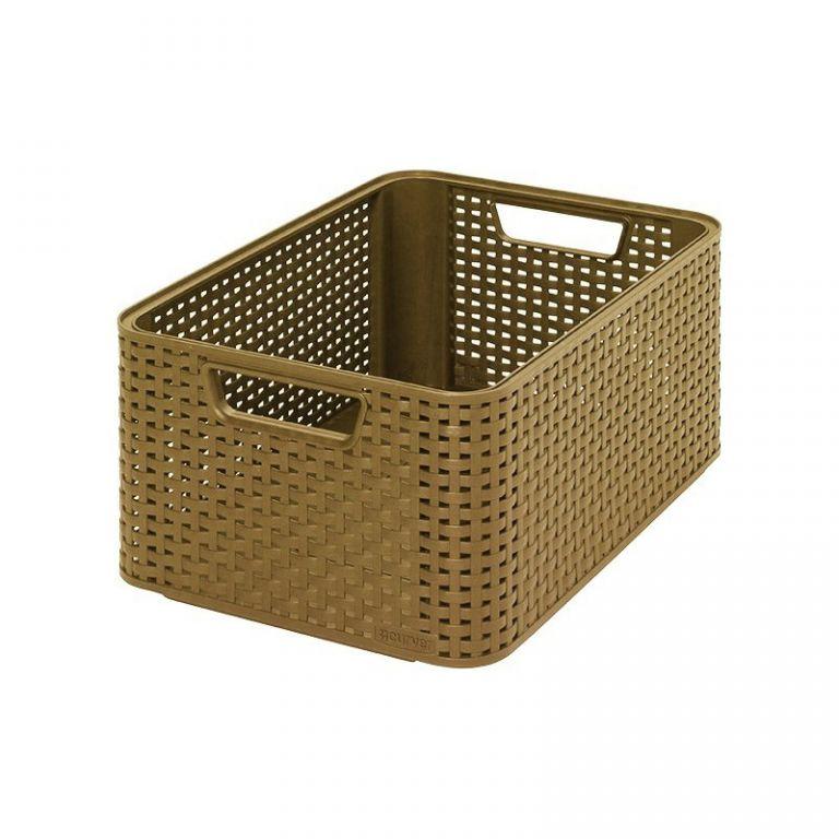 Plastový úložný STYLE BOX M kávový CURVER