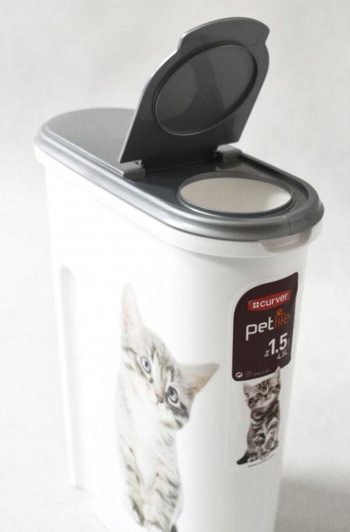 Plastová dóza na krmivo 1,5 kg - KOČKY CURVER