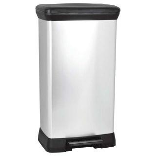 Odpadkový koš DECOBIN pedal 50l - stříbrný CURVER