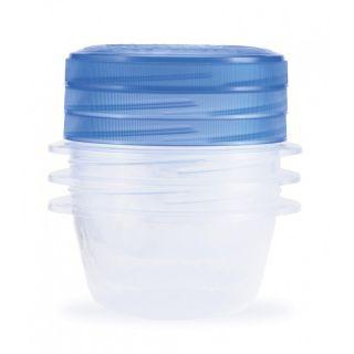 Set potravinových dóz TAKE AWAY TWIST 3x0,5L - modrý CURVER