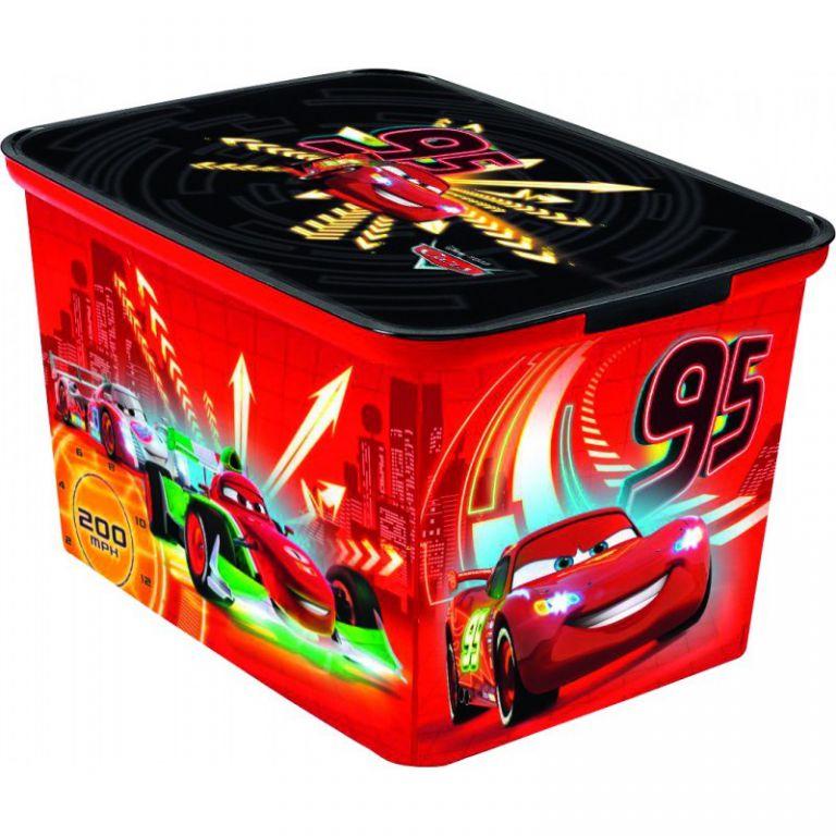 Plastový detský úložný box - L - CARS CURVER