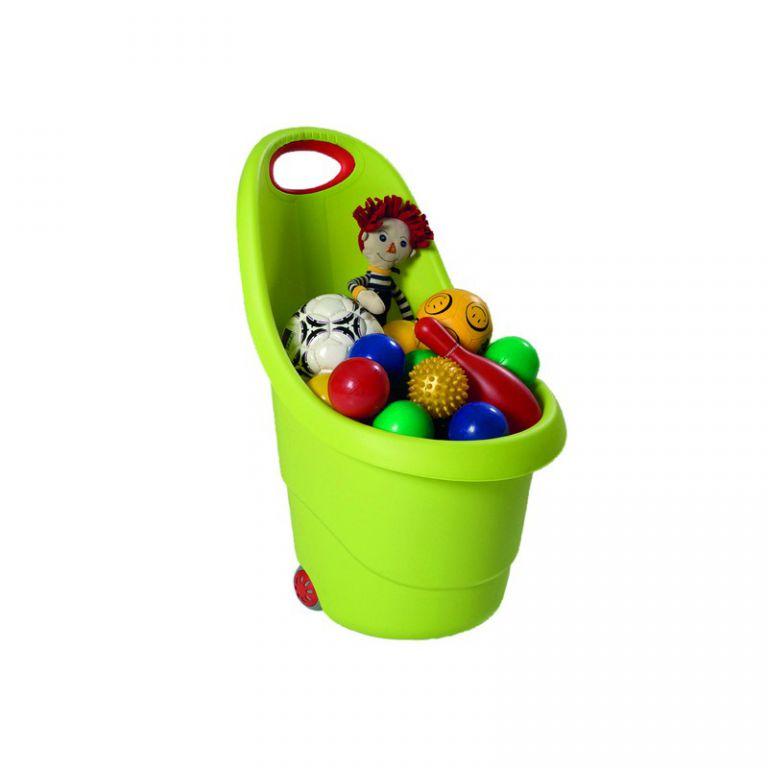 KIDDIES GO vozíček na hračky - zelený