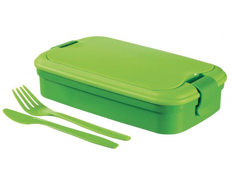 Svačinový box LUNCH & GO box - zelený
