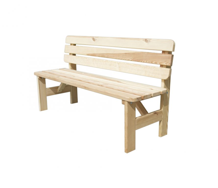 Drevená lavica VIKING - 200CM