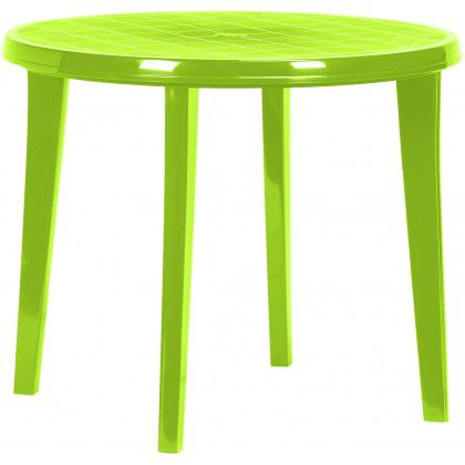 Plastový guľatý stôl LISA - light green