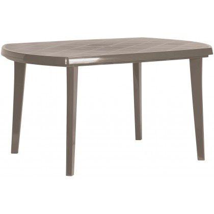 Plastový oválný stôl ELISE - cappuccino