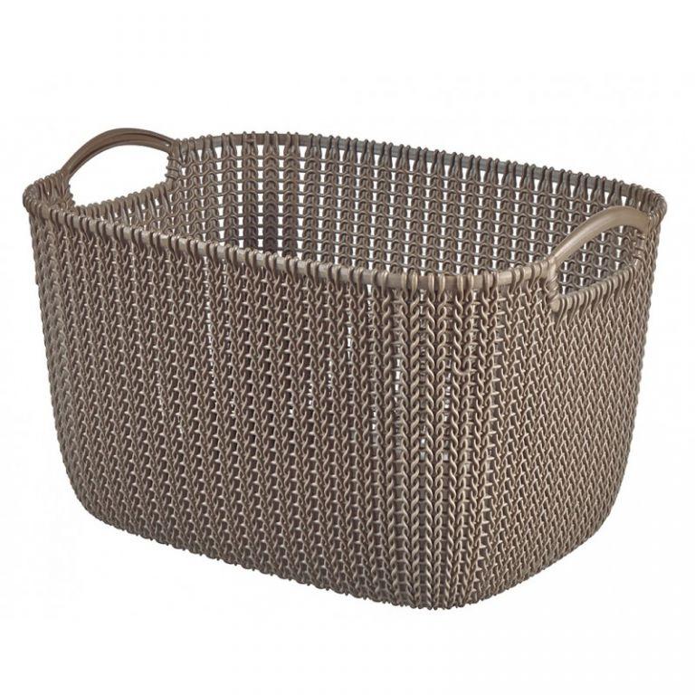 KNIT košík 19L - hnedý