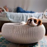 KNIT pelíšek - pískový