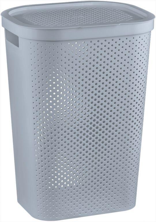 CURVER kôš na prádlo s vekom- 59 L- šedý