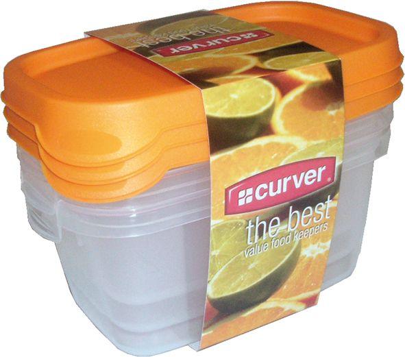 Set potravinových dóz MIX CURVER- 3 x 0,5 l