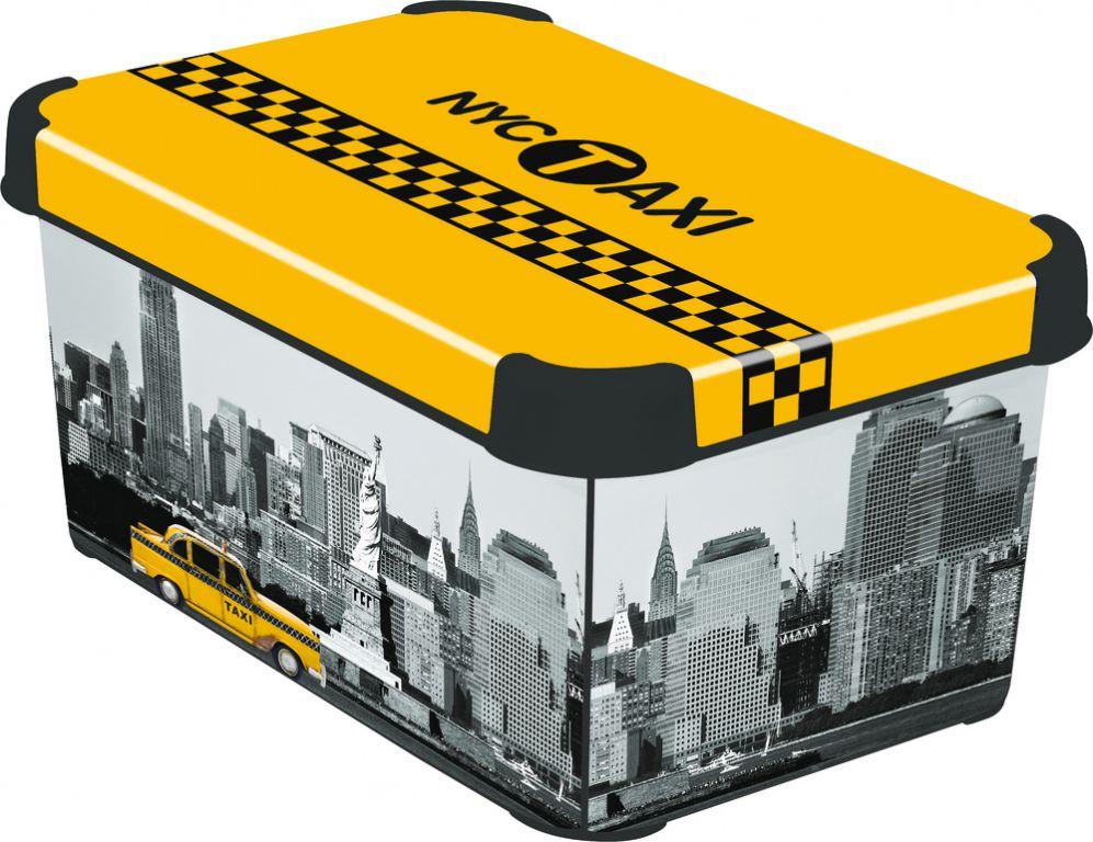 Box úložný s vekom - S - NY CITY CURVER